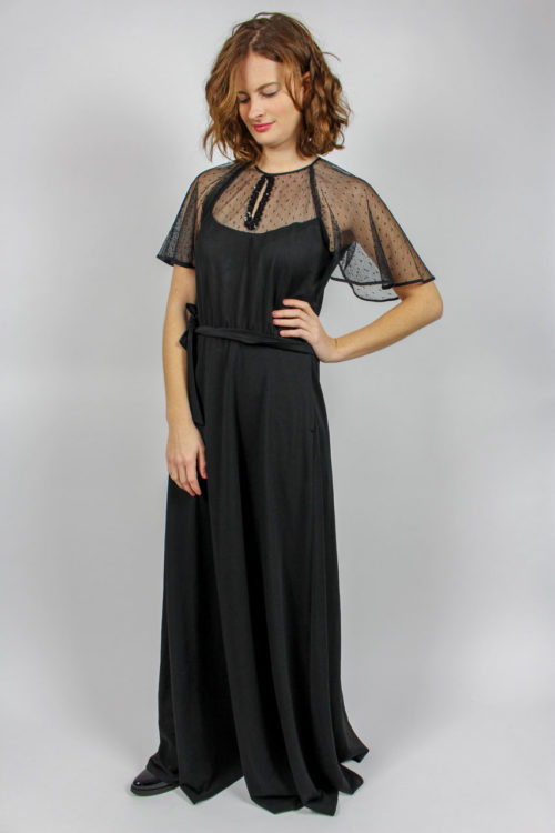 Kleid lang schwarz Secondhand