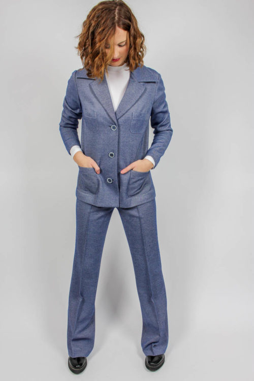 Marlenehose Blazer blau