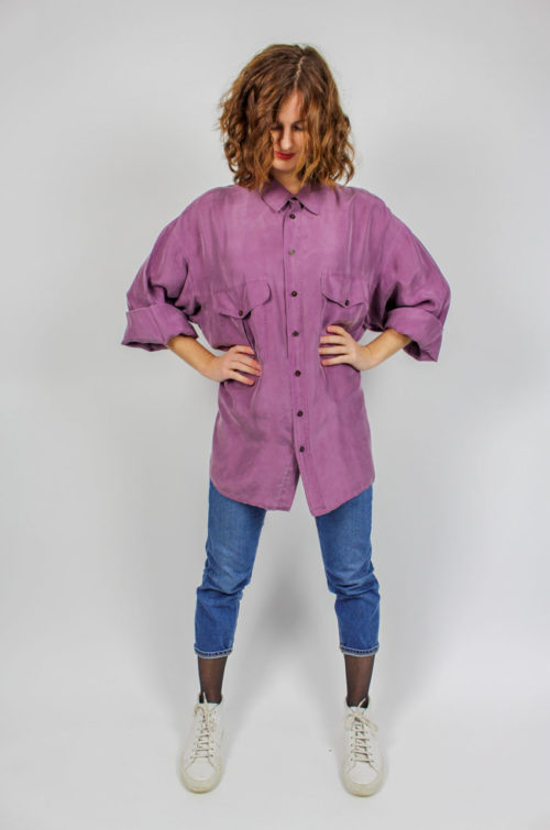 Vintage Bluse lila