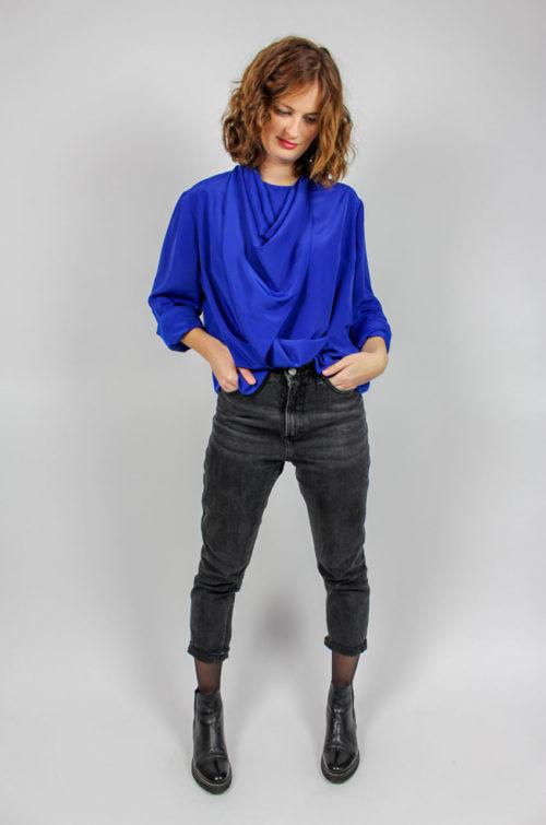 Vintage Bluse royalblau