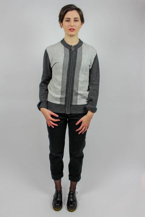 Vintage Cardigan Grau