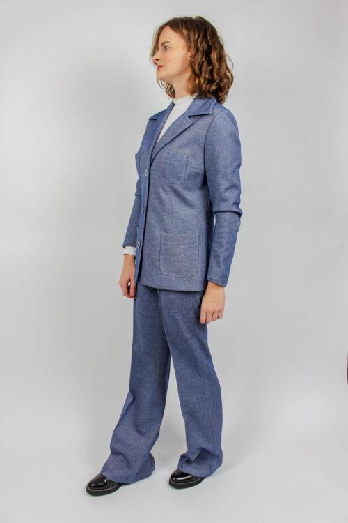 Zweiteiler Jacke und Hose blau