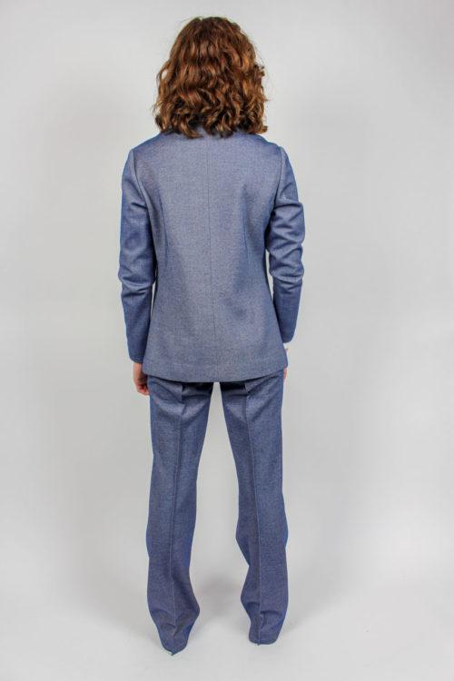 blau grauer Hosenanzug