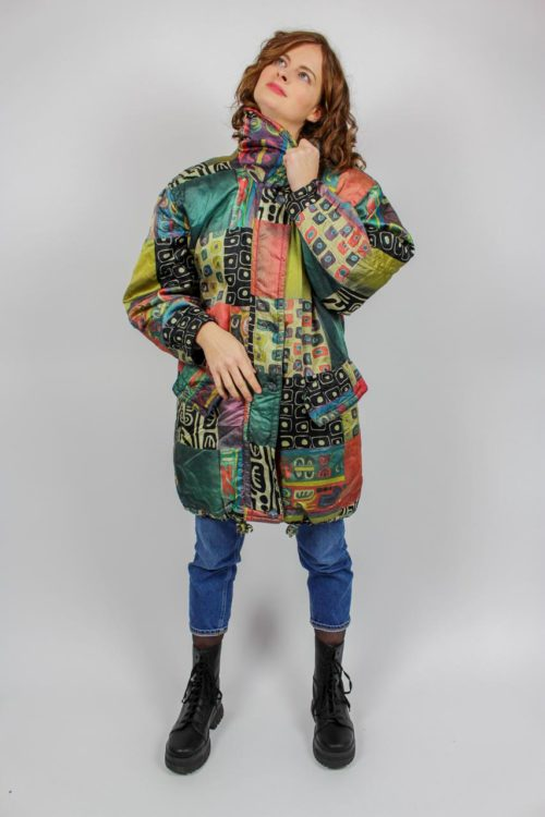 bunte Jacke Secondhand
