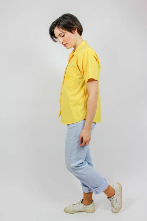 Bluse kurz gelb