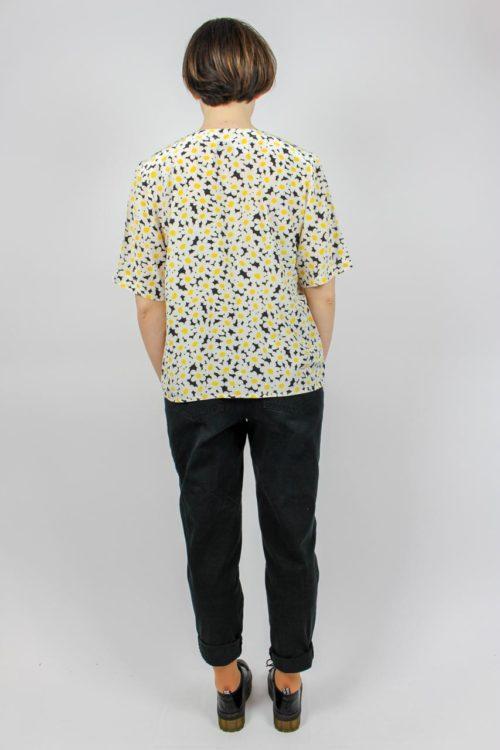 Bluse kurzarm Blumenmuster