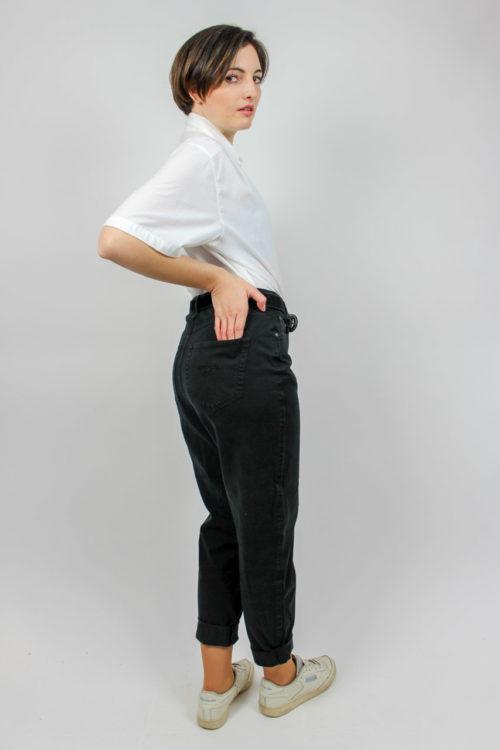 Bluse kurzarm weiß