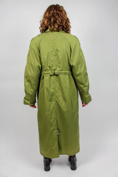 Damenmantel maxi grün