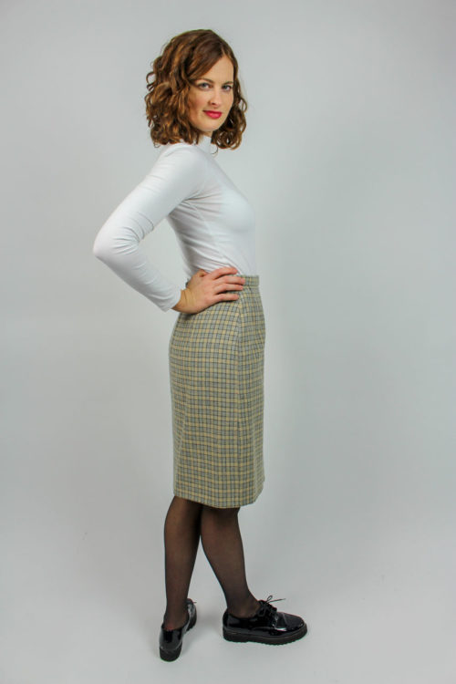 Damenrock beige Secondhand