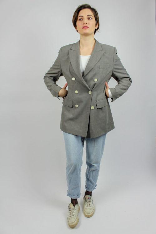 Jacke grau weiß