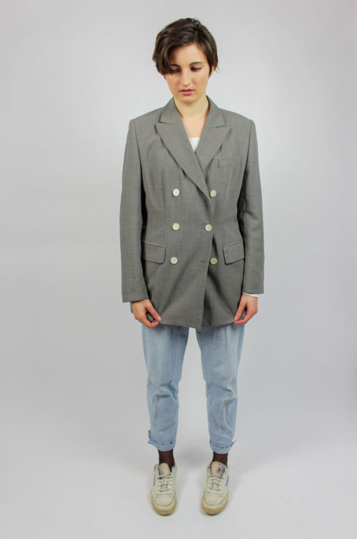 Vintage Blazer grau kariert