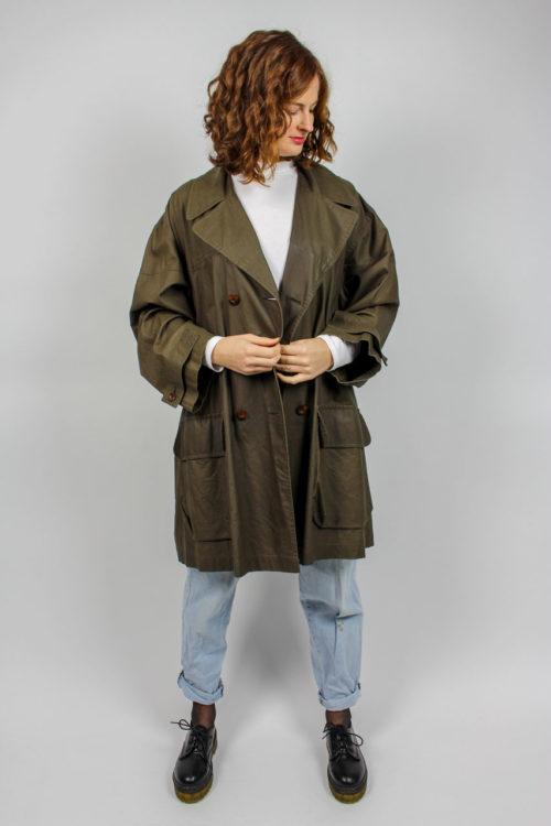 Jacke lang braun Taschen