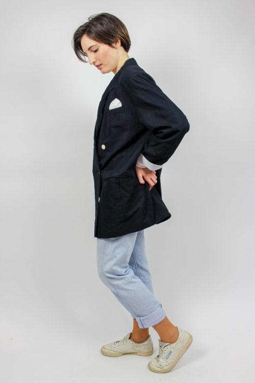 Jacke schwarz Einstecktuch