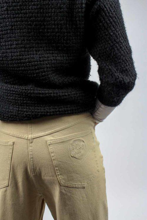 Jeans beige High Waist