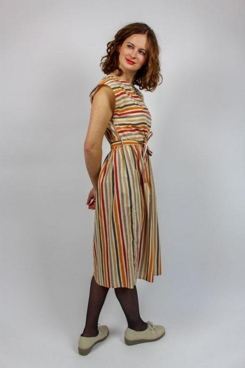 Kleid ärmellos gestreift