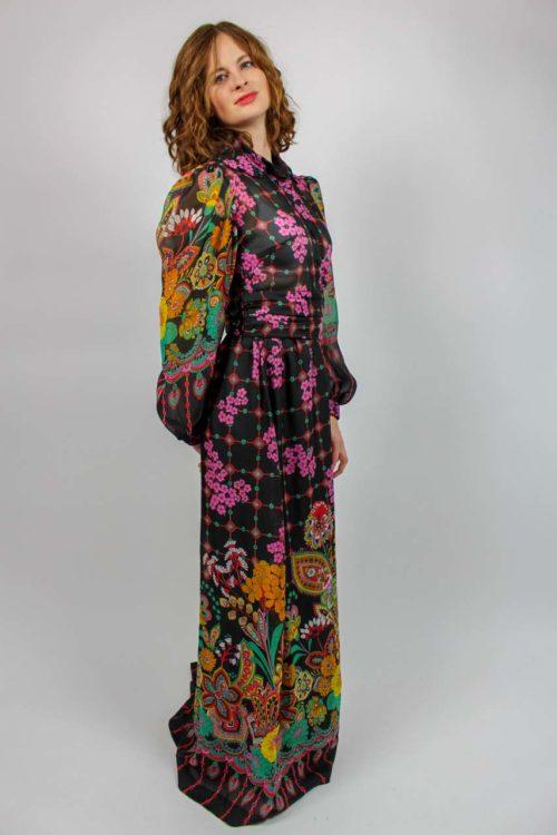 Kleid Maxi Blumen