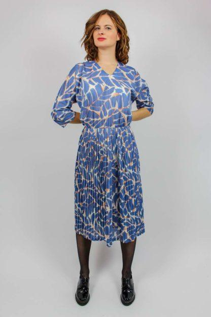 Kleid blau Faltenrock