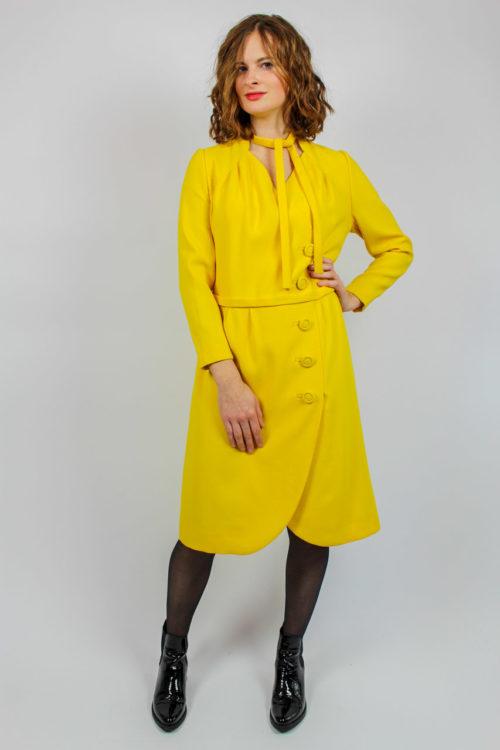 Kleid gelb Secondhand