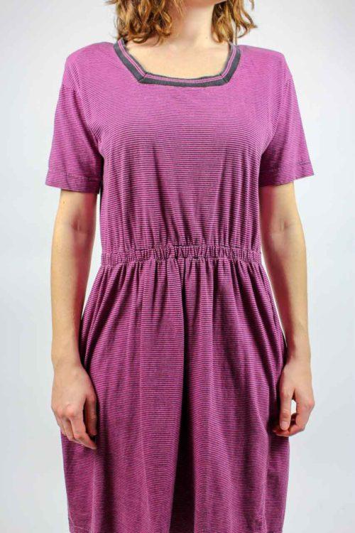 Kleid gestreift kurze Ärmel