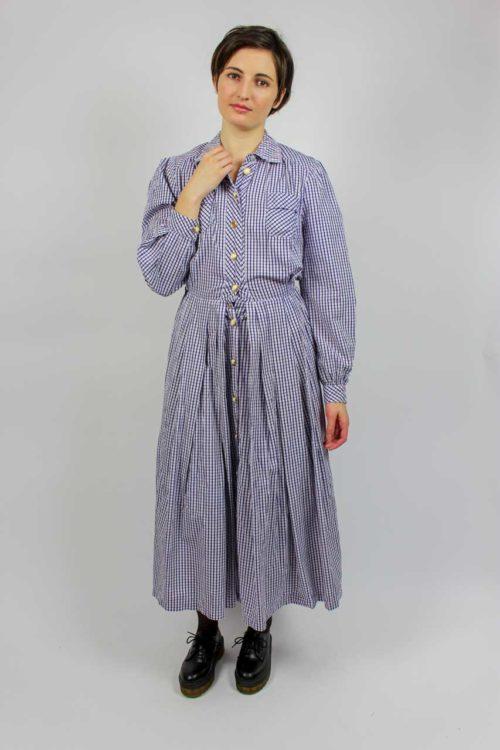 Kleid lila weiß