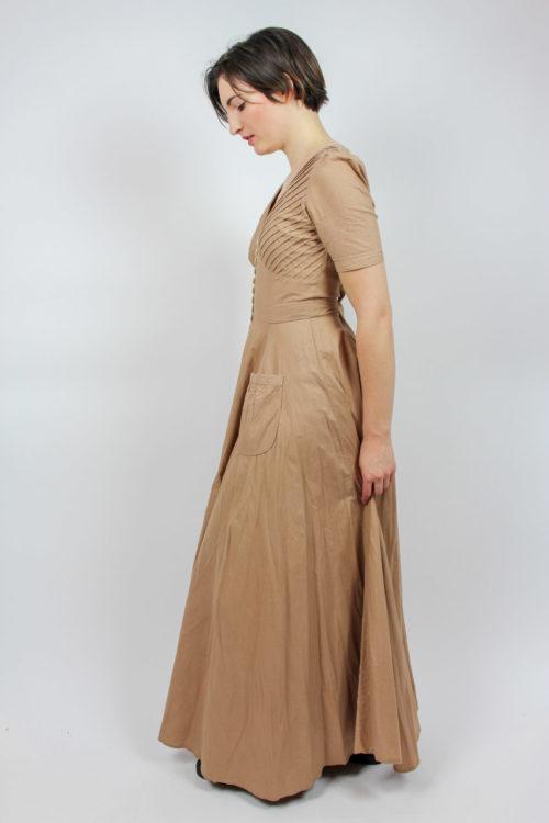 Kleid maxi hautfarben