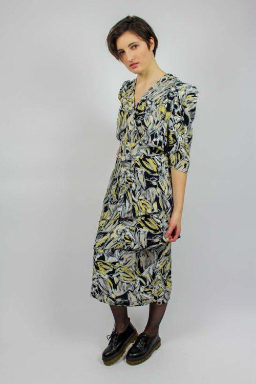 Kleid midi Rüschen