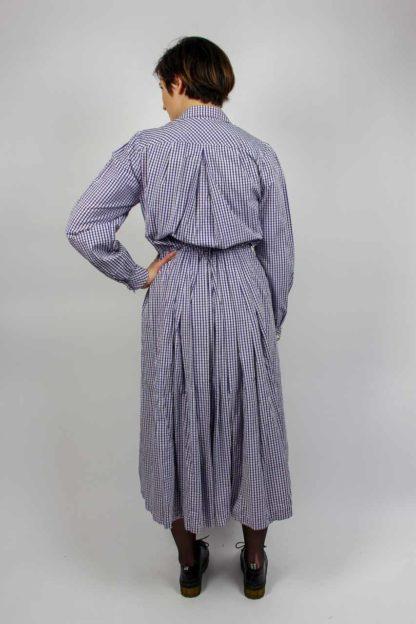 Kleid midi lila weiß