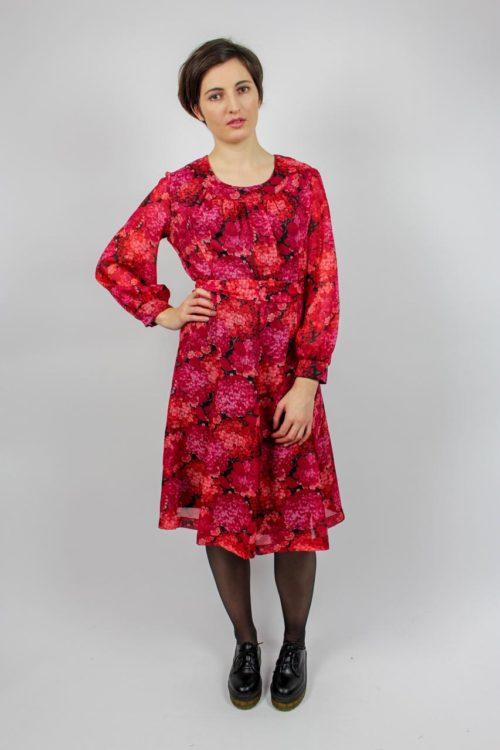 Kleid rot midi Secondhand
