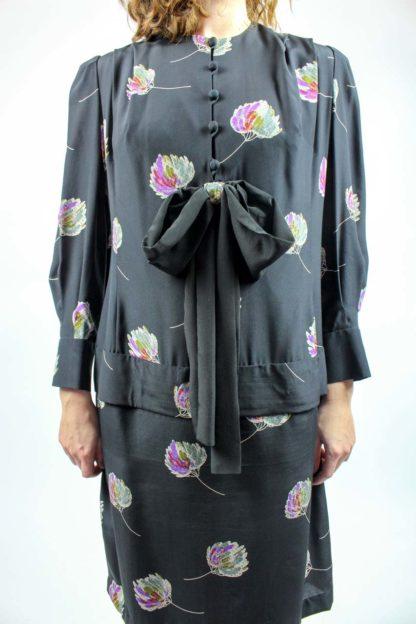 Kleid schwarz Schleife