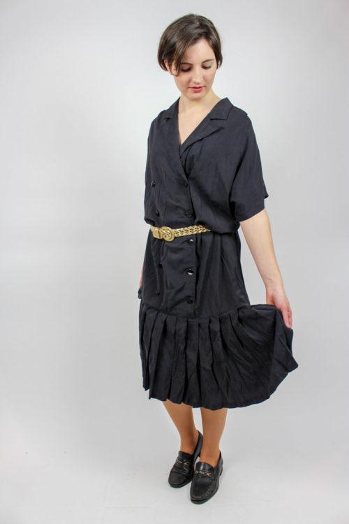 Kleid schwarz kurzarm
