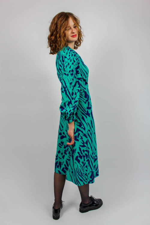 Kleid türkis lila