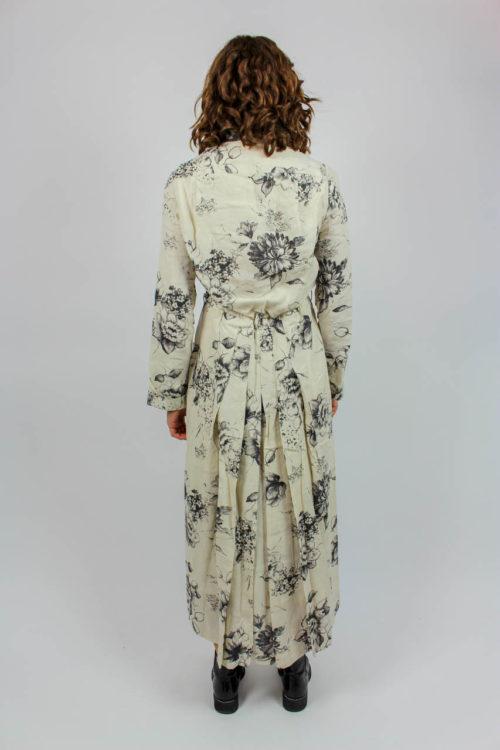Kleid weiß florales Muster