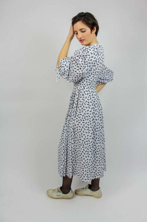 Kleid weiß schwarz
