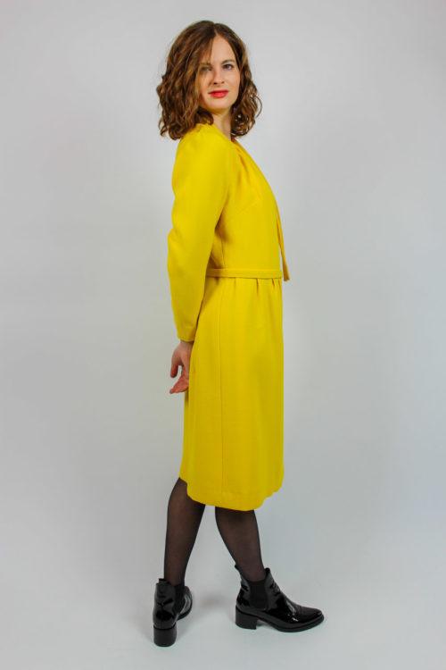 Langarmkleid gelb