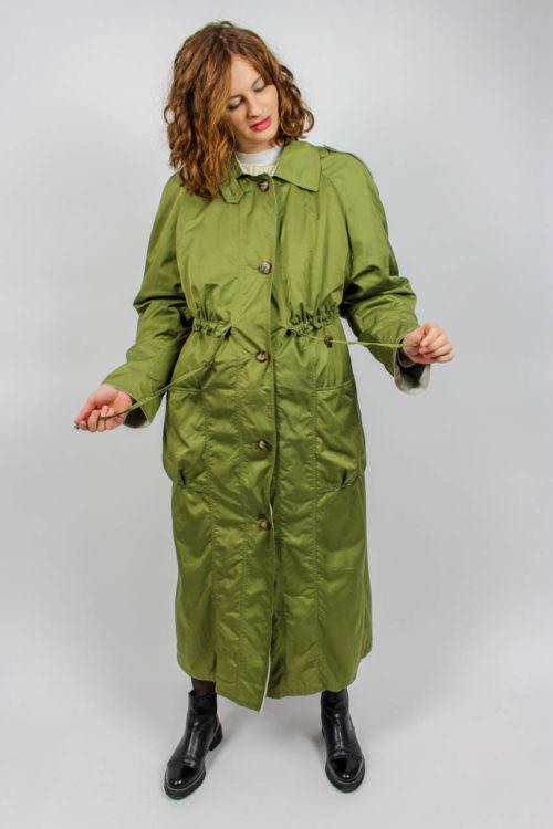 Langer Mantel grün