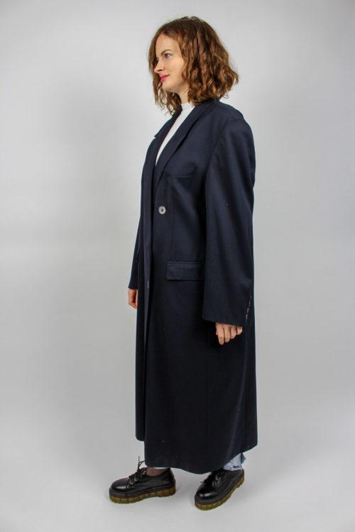 Mantel blau lang