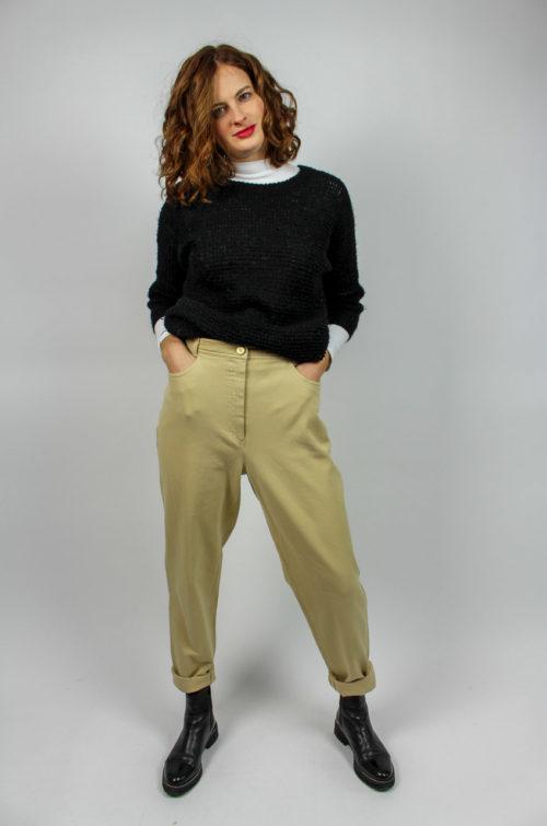 Vintage Mom Jeans beige