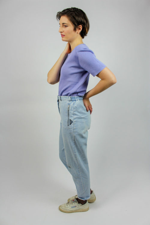 Pullover lila kurzarm