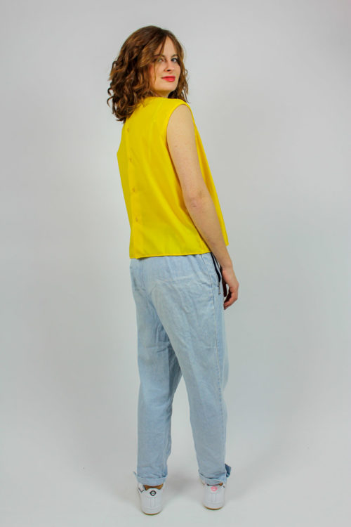 Shirt gelb ärmellos