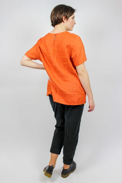 Shirt leinen kurzarm