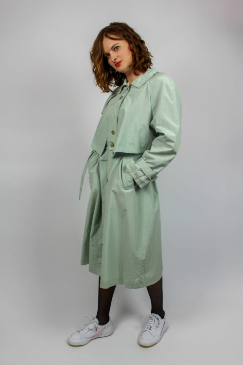 Trenchcoat blau Secondhand
