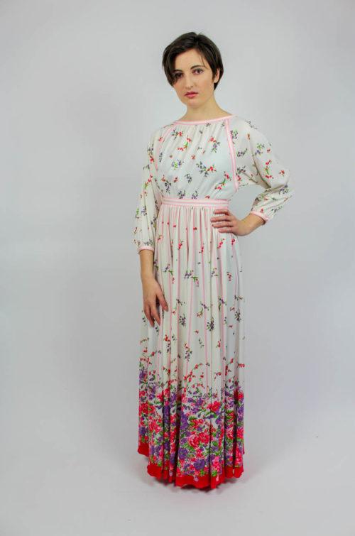 Vintage Abendkleid floral