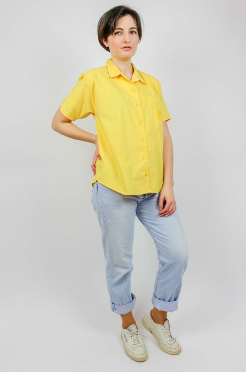 Vintage Bluse gelb