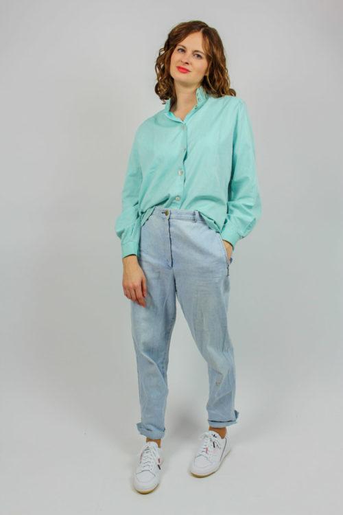 Vintage Bluse türkis