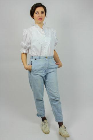 Vintage Bluse weiß