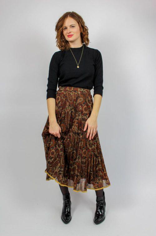 Vintage Damenrock braun