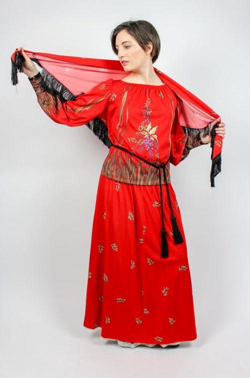 Vintage Dreiteiler rot