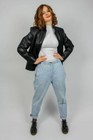 Vintage Jacke Lederoptik