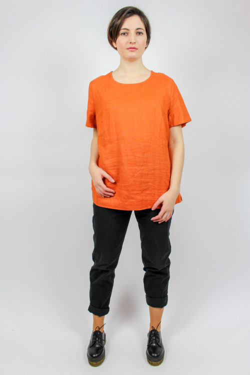 Vintage Leinenshirt orange