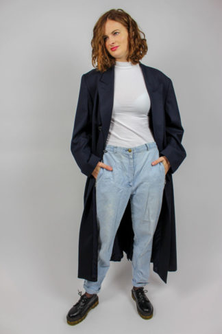 Vintage Mantel blau Maxi